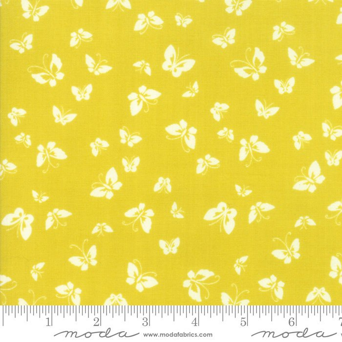 Yellow Butterflies Fabric from Lazy Days Collection at Cherry Creek Fabric