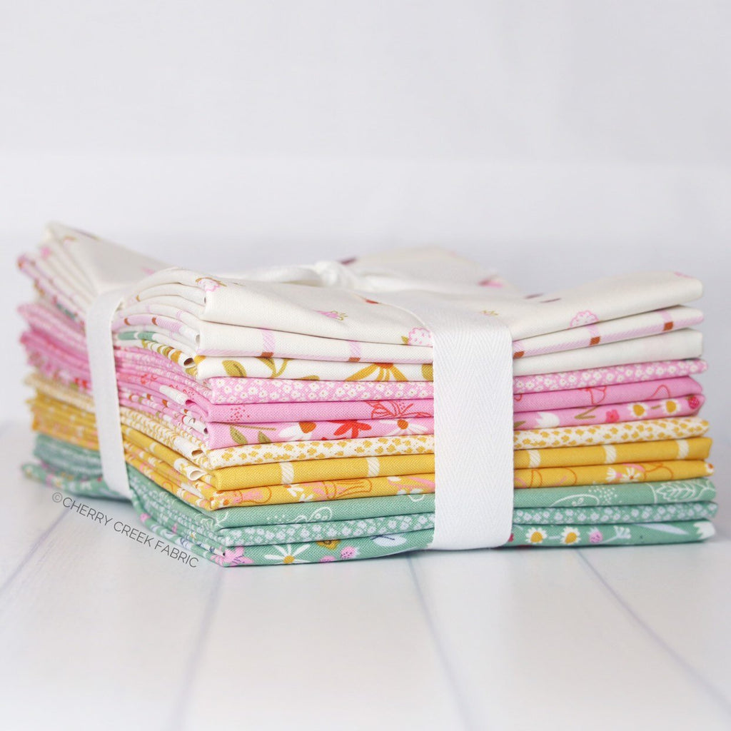 Wild Bouquet Green, Pink & Yellow Half Yard Bundle from Wild Bouquet Collection at Cherry Creek Fabric