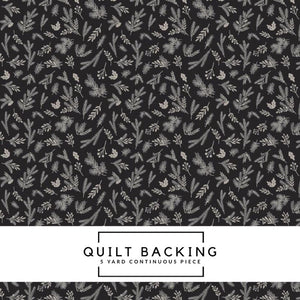 Christmas Delivery by Carta Bella | Black Christmas Sprigs Fabric - 5 Yard Backing