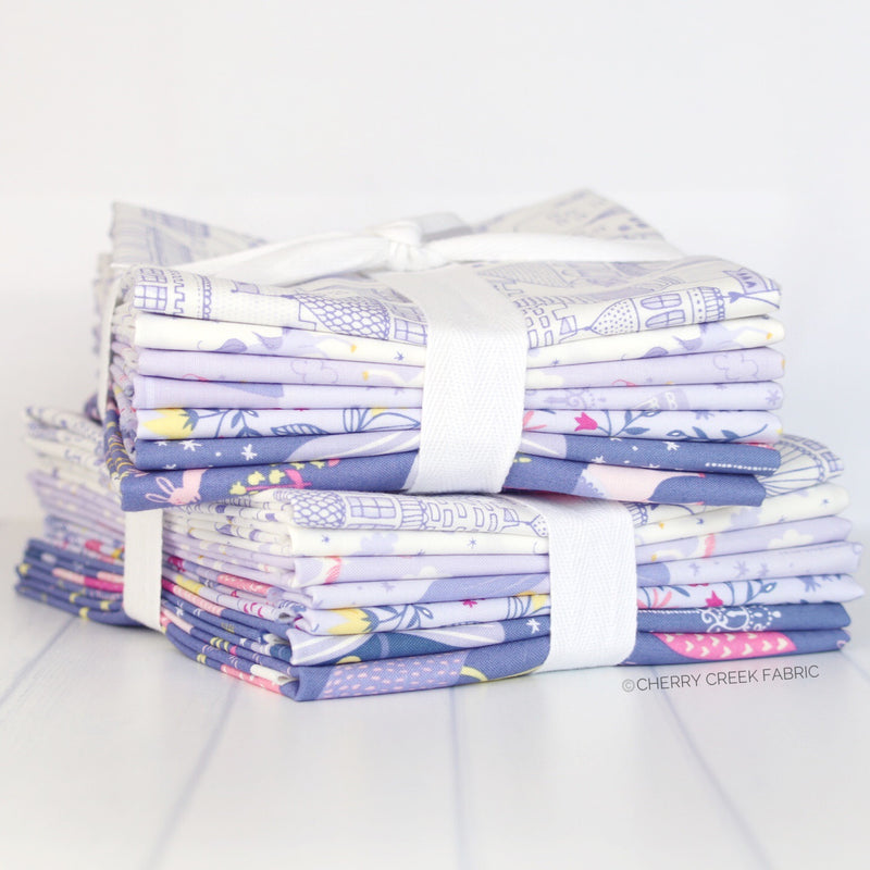 Once Upon A Time Purple Half Yard Bundle from Once Upon a Time Collection at Cherry Creek Fabric