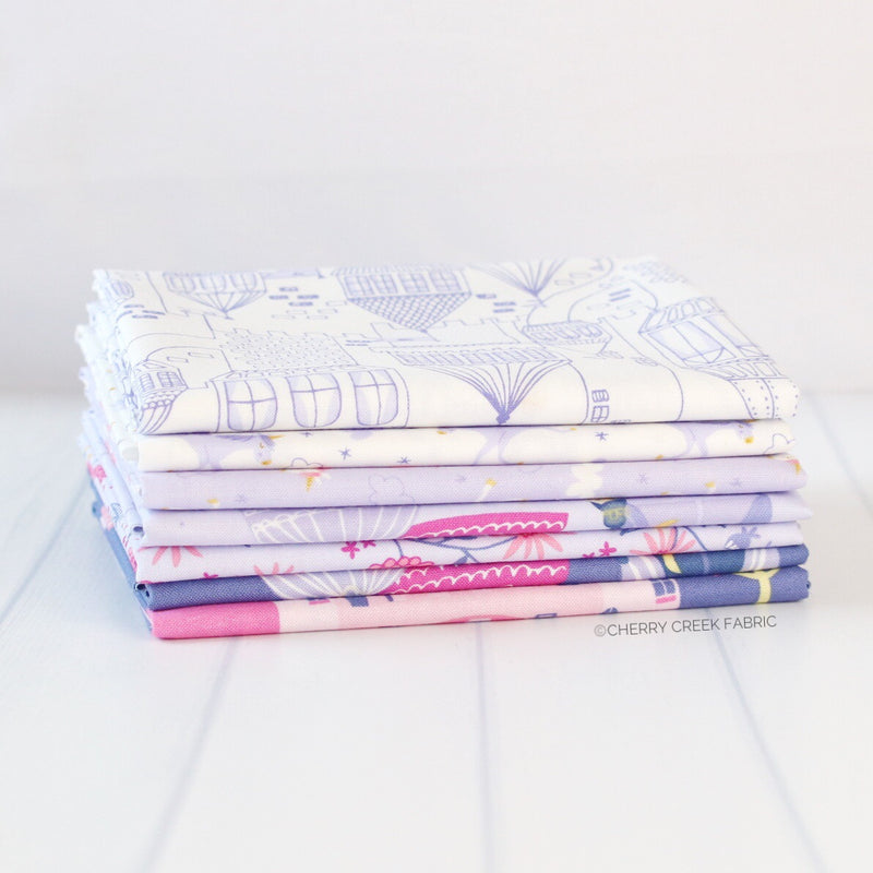 Once Upon A Time Purple Fat Quarter Bundle from Once Upon a Time Collection at Cherry Creek Fabric