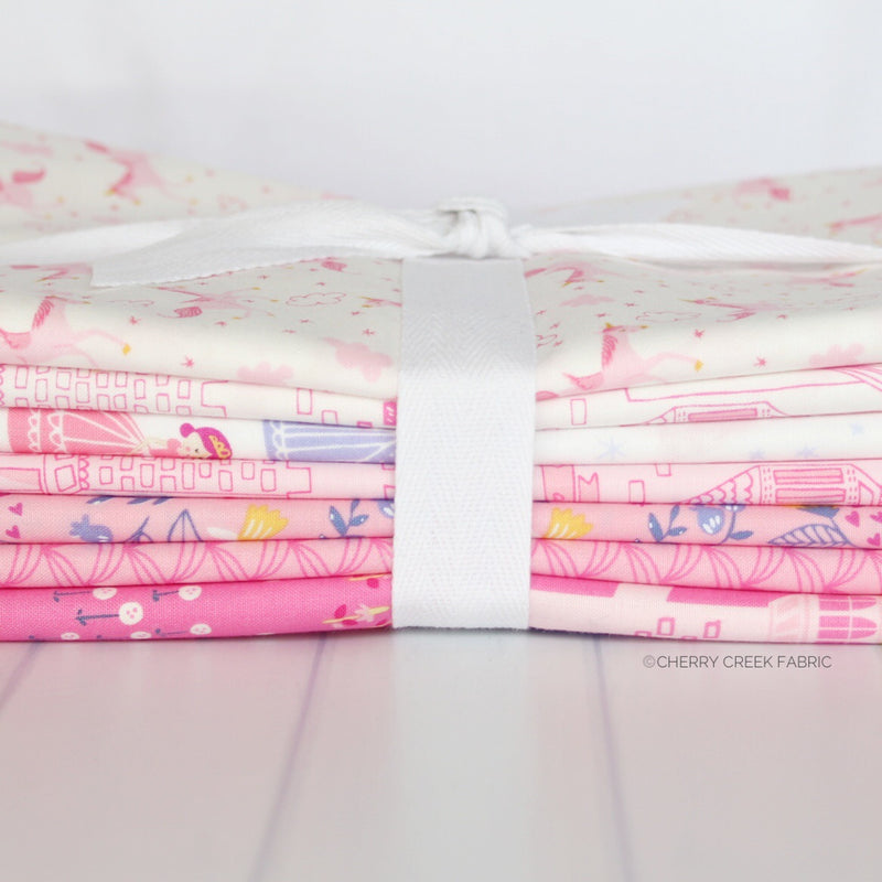 Once Upon A Time Pink One Yard Bundle from Once Upon a Time Collection at Cherry Creek Fabric