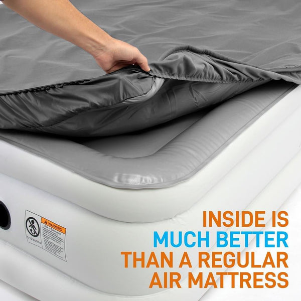 Memory Foam Top Raised Airbed SLMFPFL76