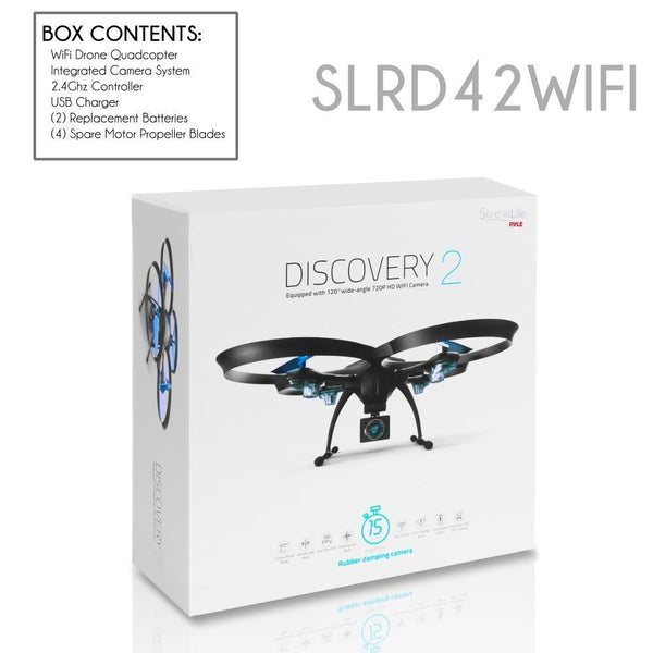 WiFi Drone Quad-Copter with HD Camera SLRD42WIFI - SereneLife Home