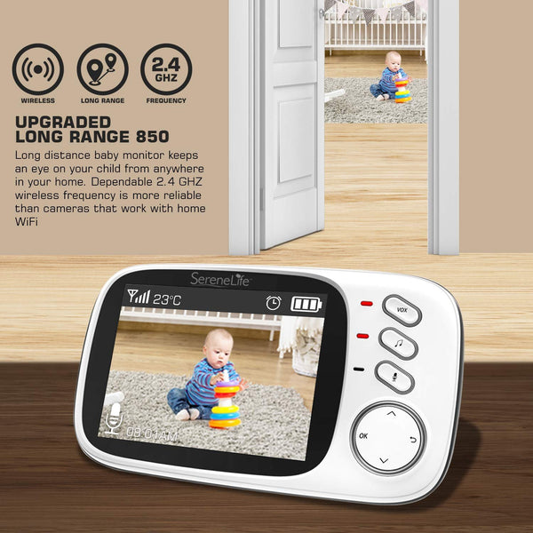 "Wireless Video Baby Monitor 3.2"" Display SLBCAM20 - SereneLife Home"