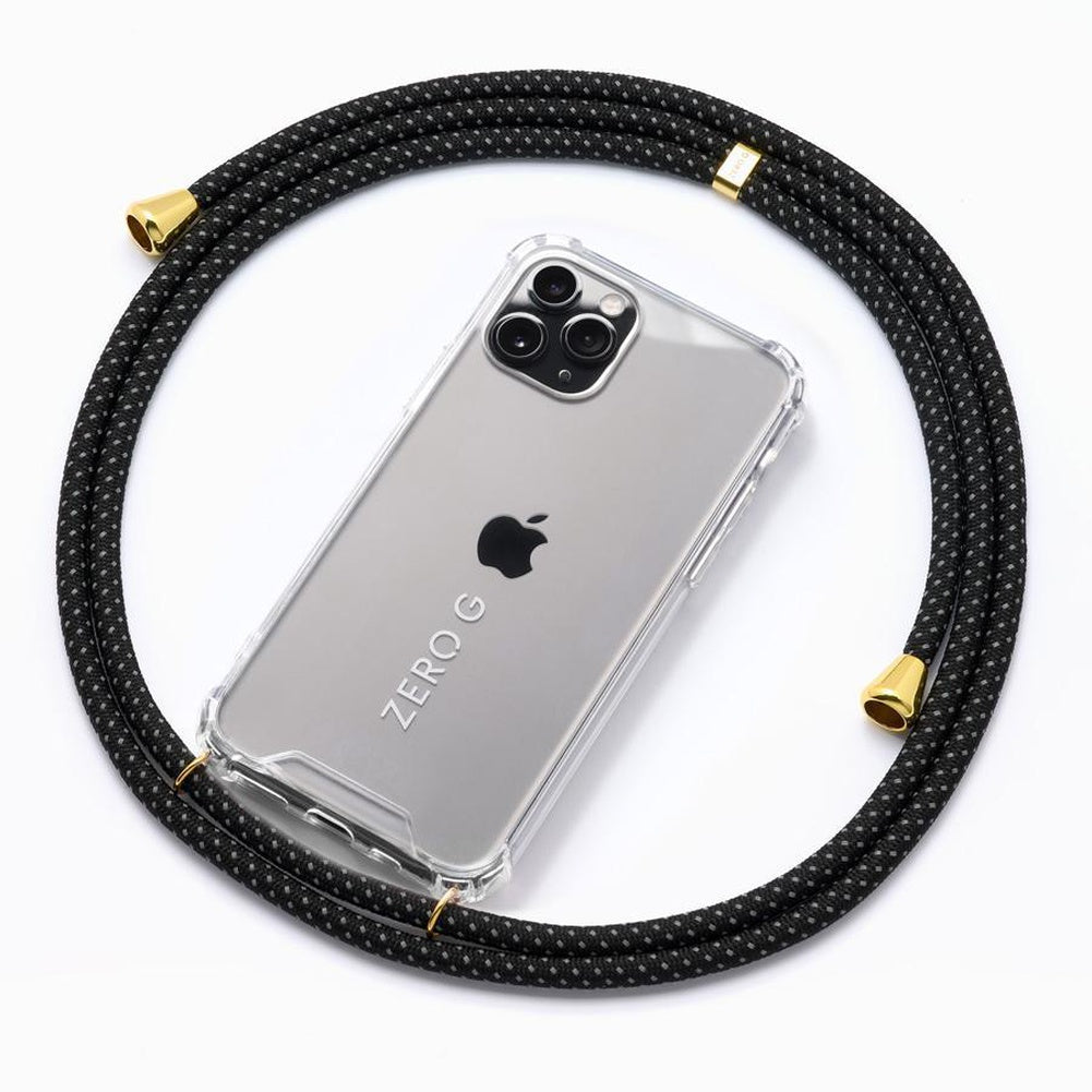 """Reflective Two"" Black and White Reflective Smartphone Necklace – Deluxe Edition"