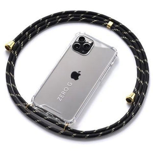 """Sahara Sky"" Smartphone Necklace in Black and Gold with Gold Accents"