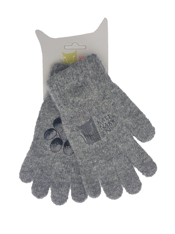 Magical Wool Gloves, Grey