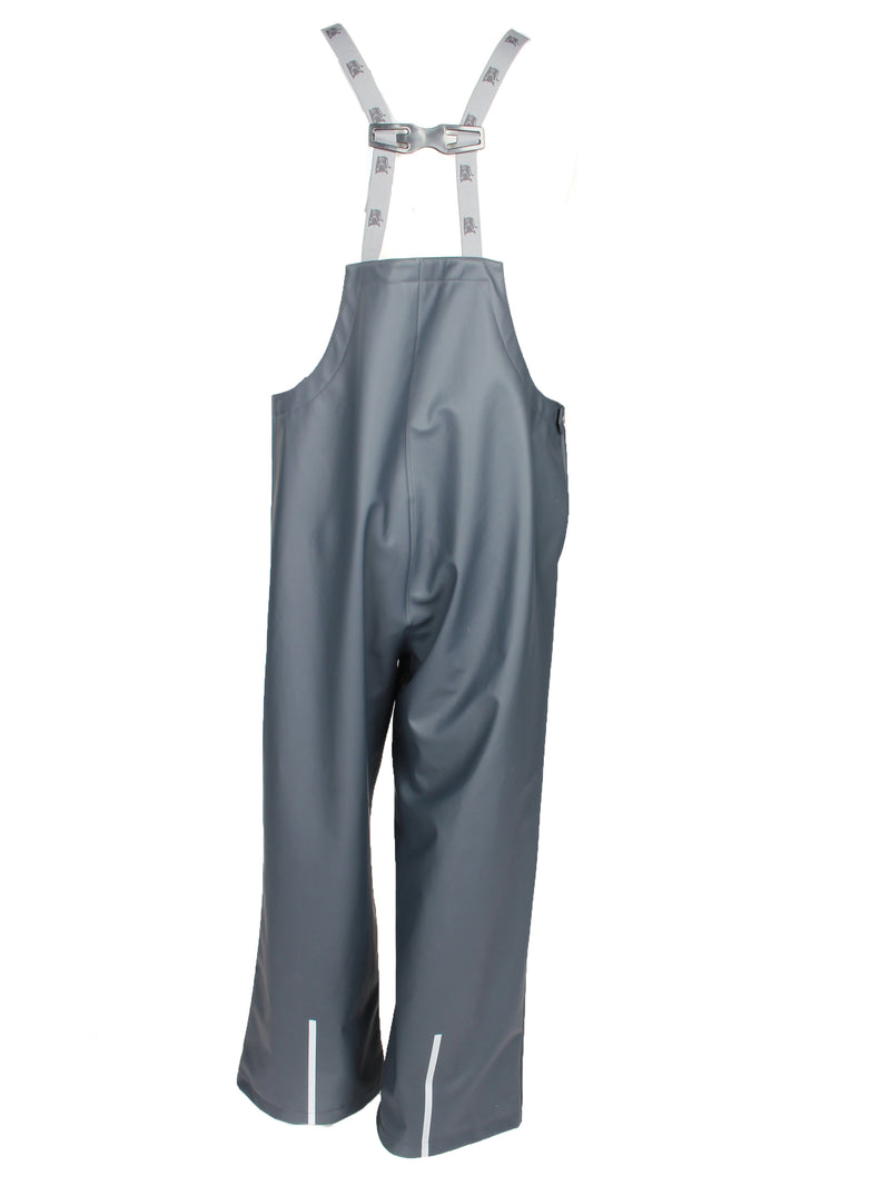 Adult Rain Pants with Bib, Charcoal