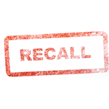Recall stamp for unsafe commercial food and products