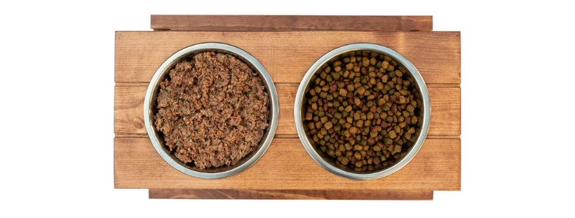 supplemental combined partial raw diet for dogs