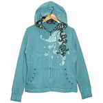 Women's Embroidered Print Hoodie Jacket #10229 - IDI Clothing - Where you can buy directly for the designer manufacturer-Made In USA :)