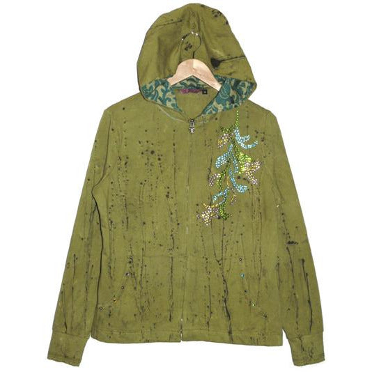 Women's Splatter Paint Embellished Hoodie Jacket #10229 - IDI Clothing - Where you can buy directly for the designer manufacturer-Made In USA :)