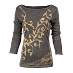 Women's Embroidered Long Sleeve Top  #10303