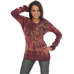 Women's Print Long Sleeve Top #10368 - IDI Clothing - Where you can buy directly for the designer manufacturer-Made In USA :)