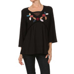 Women's Empire Waist V-neck Top #10460