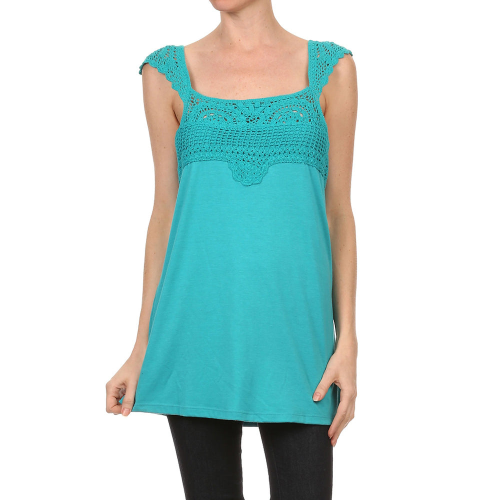 Ladies Crochet Sleeveless Tank Top