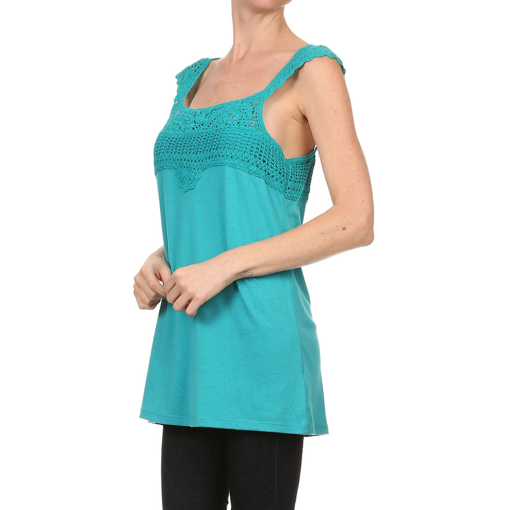Women's Crochet Sleeveless Tank Top #10536 - IDI Clothing - Where you can buy directly for the designer manufacturer-Made In USA :)