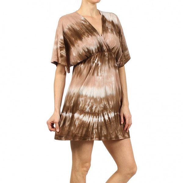 Women's Tie Dye V-Neck Tunic #10583 - IDI Clothing - Where you can buy directly for the designer manufacturer-Made In USA :)