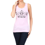 Women's Crown Tee-Tank Top  #10676 ESC Blush Pink Made In USA