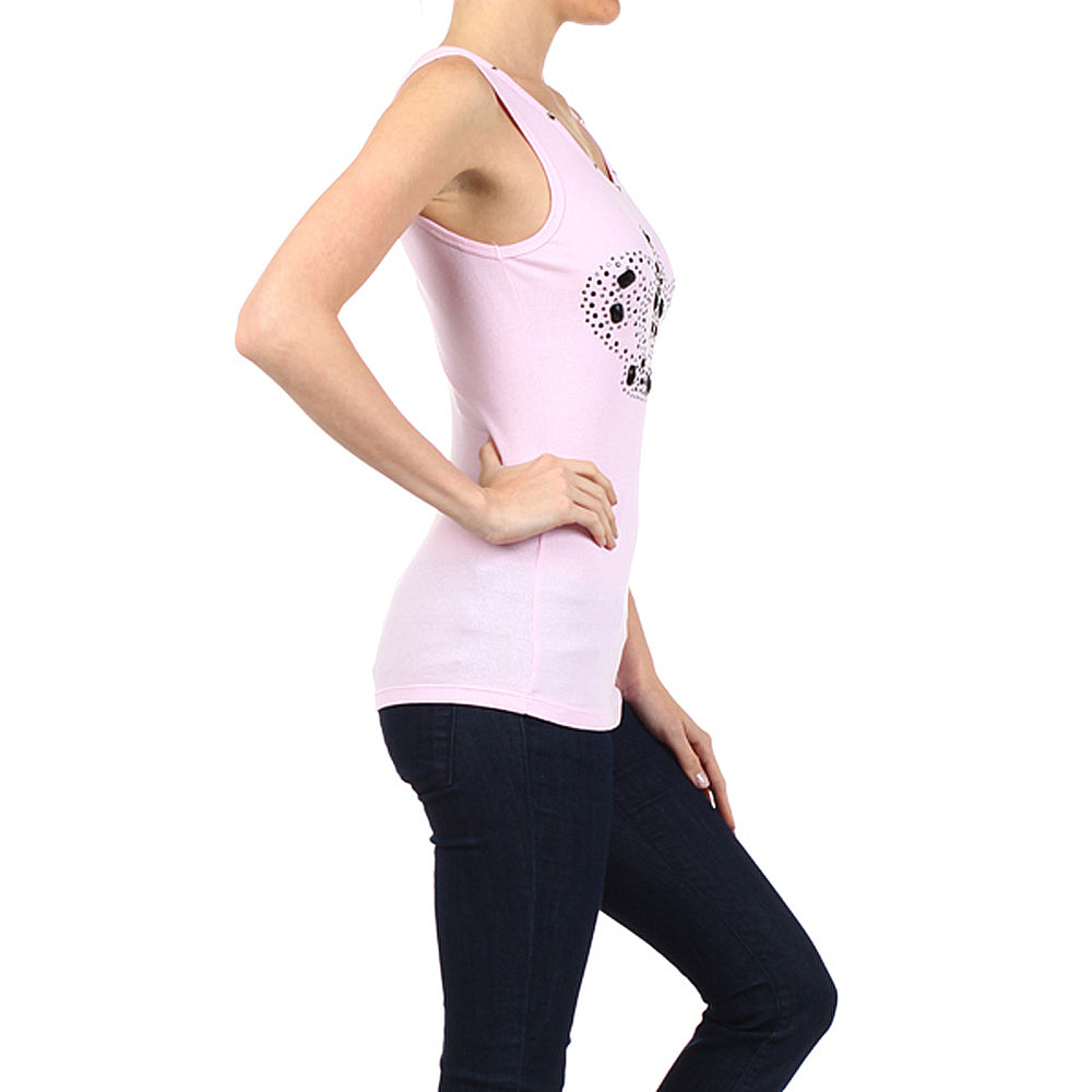 Women's Crown Tee-Tank Top  #10676 Blush Pink - IDI Clothing - Where you can buy directly for the designer manufacturer-Made In USA :)