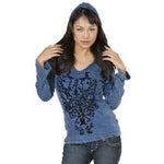 Women's Vintage Print Pullover Hoodie #10711 - IDI Clothing - Where you can buy directly for the designer manufacturer-Made In USA :)