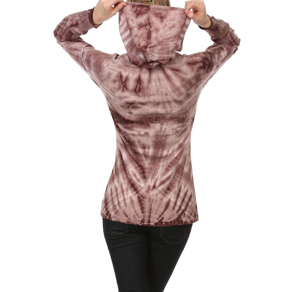Women's Heart Tie Dye Long Sleeve Hoodie #10783 - IDI Clothing - Where you can buy directly for the designer manufacturer-Made In USA :)