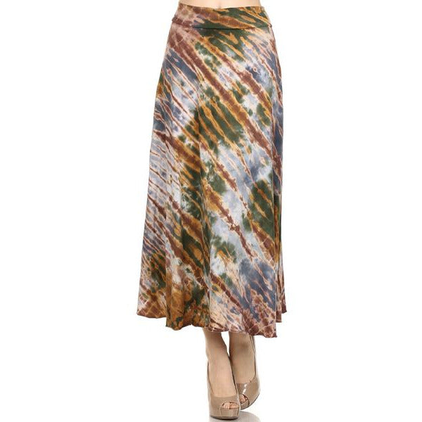 Mid Length Tie Dye Skirt #10862 100% Cotton Made in USA