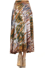 Mid Length Tie Dye Skirt #10862 100% Cotton Made in USA - IDI Clothing - Where you can buy directly for the designer manufacturer-Made In USA :)