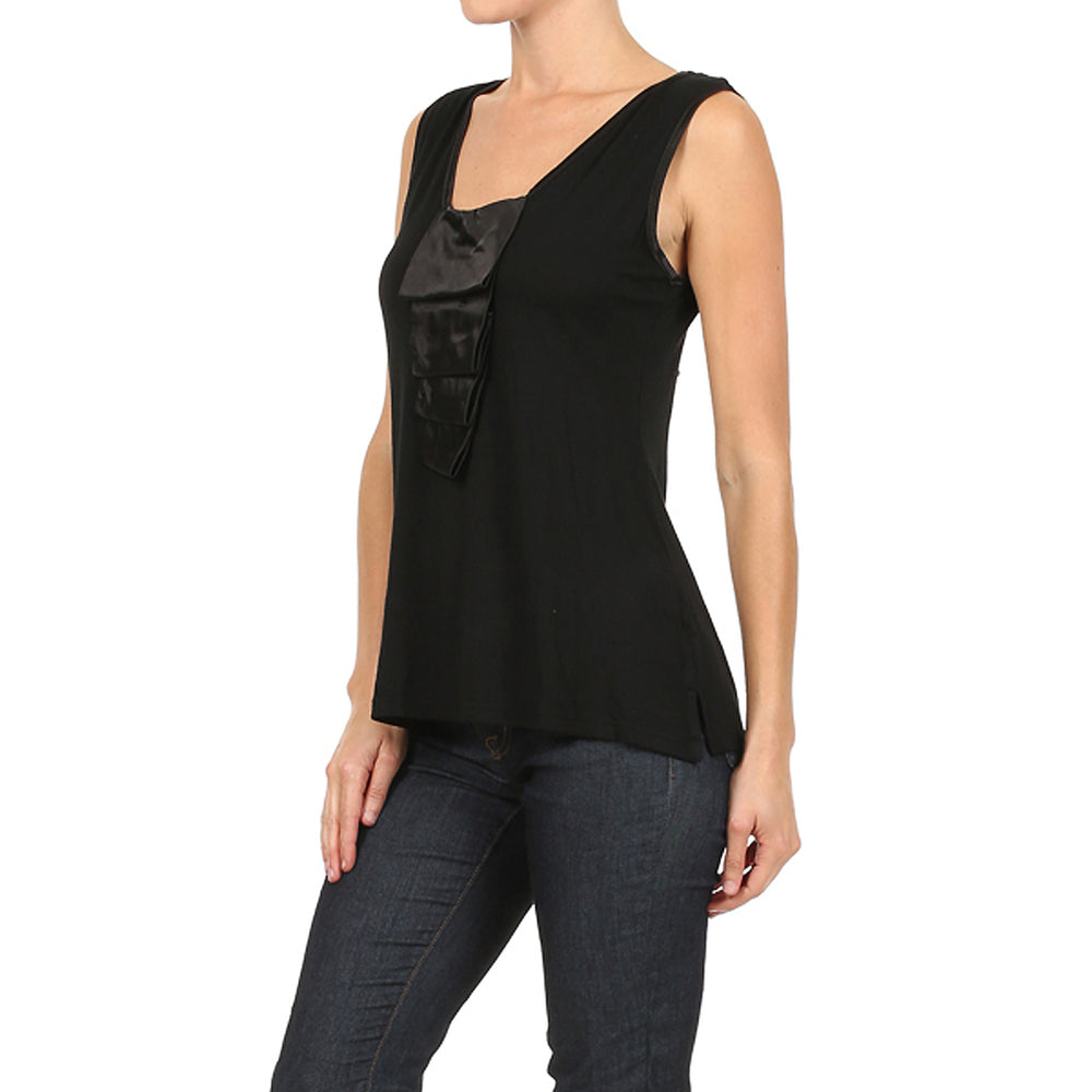 Women's Ruffle Tank Top #10896 Made In USA - IDI Clothing - Where you can buy directly for the designer manufacturer-Made In USA :)