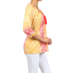 Women's 3/4 Sleeve Peasant Floral Top #10898 - IDI Clothing - Where you can buy directly for the designer manufacturer-Made In USA :)