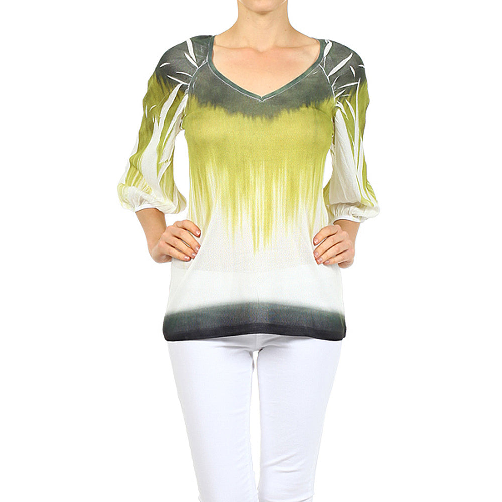 Women's Sublimated V-Neck Top #10906 Made In USA