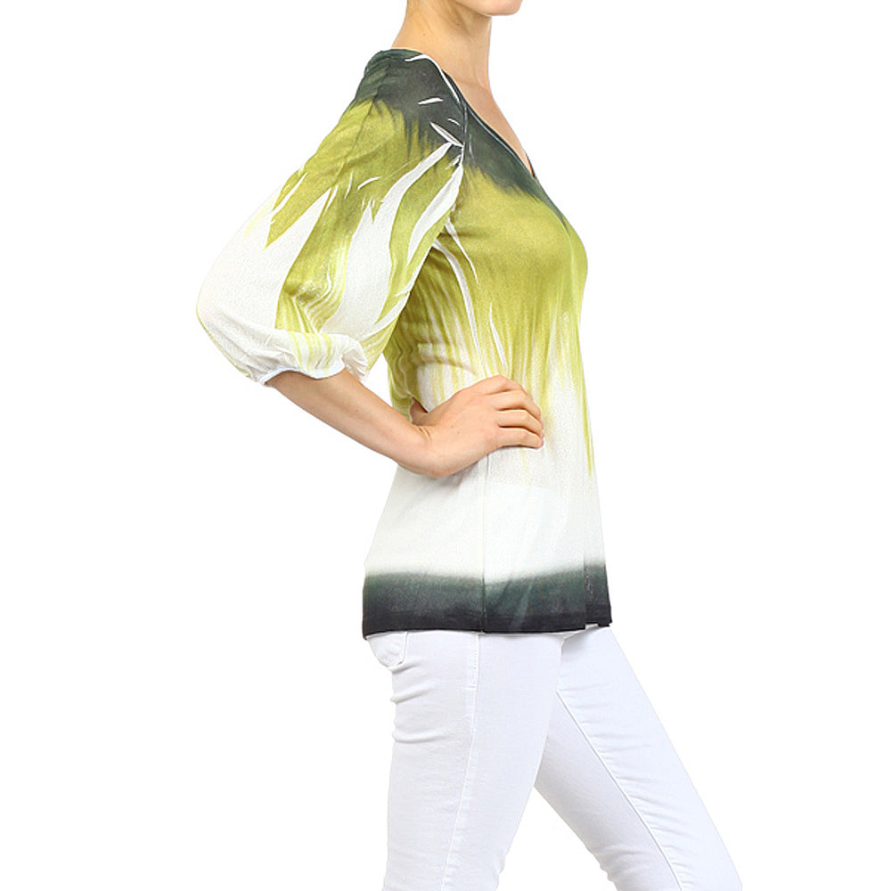 Women's Sublimated V-Neck Top #10906 Made In USA - IDI Clothing - Where you can buy directly for the designer manufacturer-Made In USA :)
