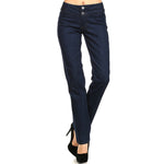Women's Classic Jean Stretch Pant two button on the waist  Jean Blue #11104