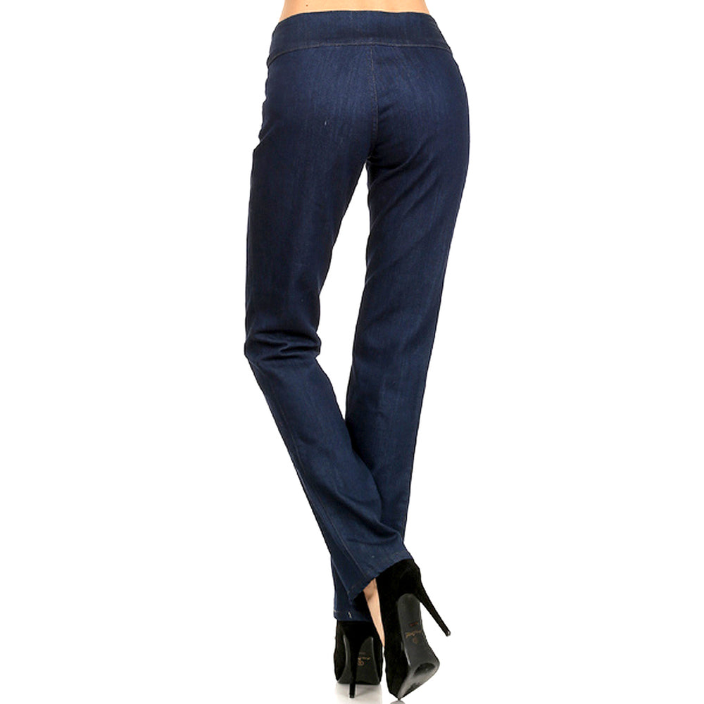 Women's Classic Jean Stretch Pant two button on the waist  Jean Blue #11104 - IDI Clothing - Where you can buy directly for the designer manufacturer-Made In USA :)