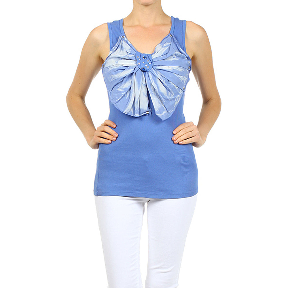 Women's Bow Tank Top #11109  Made In USA