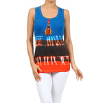 Women's Tie Dye Beaded Tank Top #11126 Made In USA