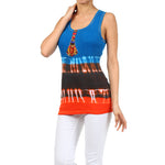 Ladies Tie Dye Beaded Tank Top