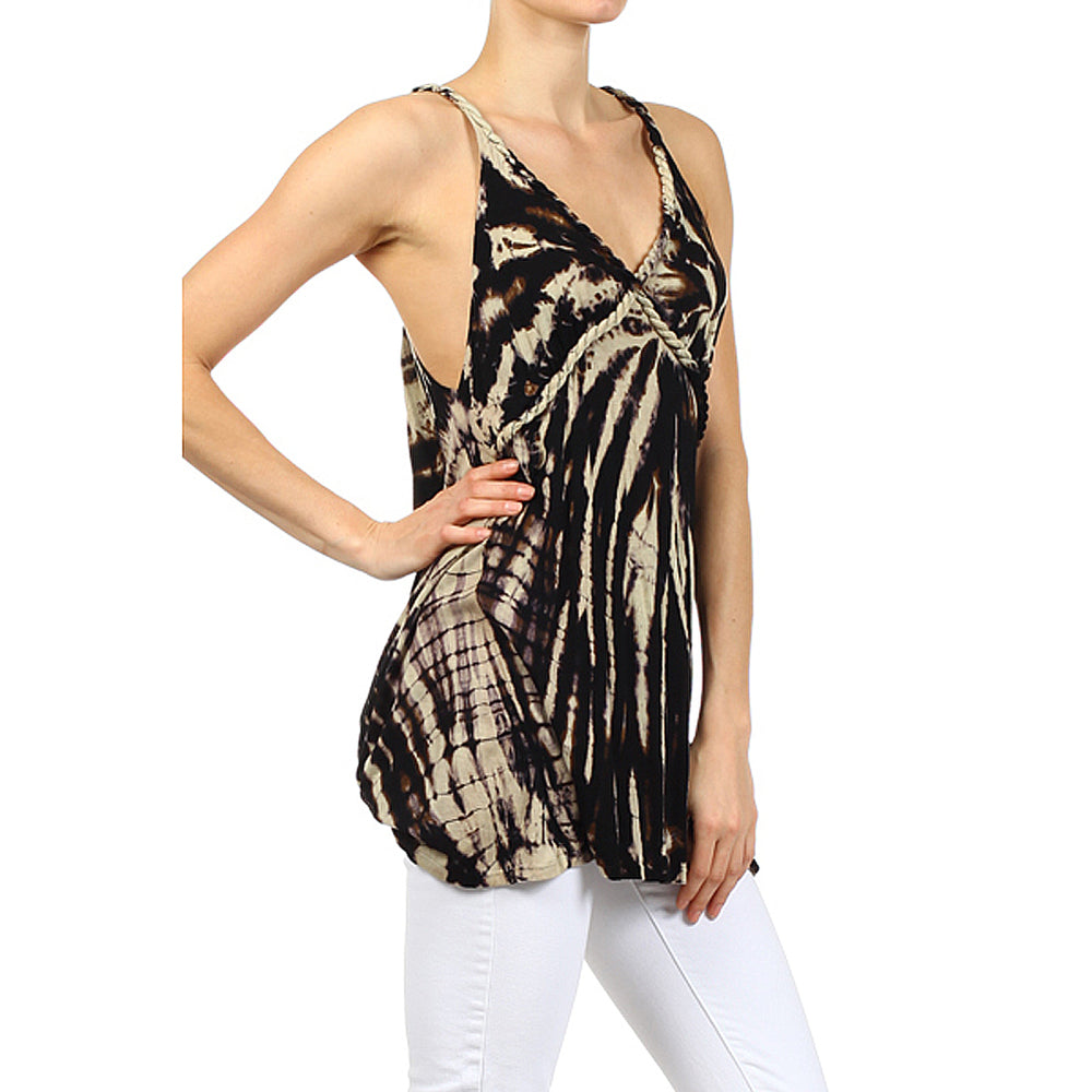 Women's Tie Dye High-Low Tank Top #11134 Made In USA - IDI Clothing - Where you can buy directly for the designer manufacturer-Made In USA :)