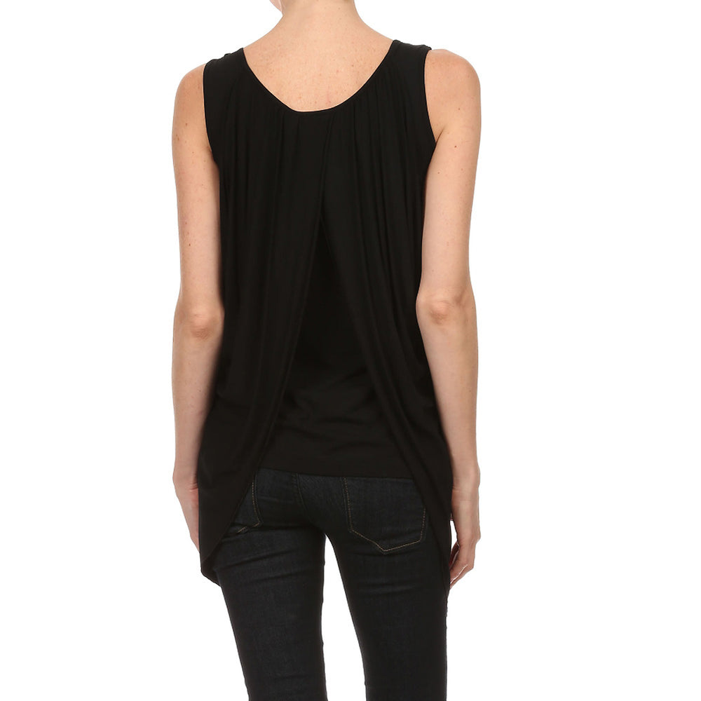 Women's Sleeveless Draped Top #11135 - IDI Clothing - Where you can buy directly for the designer manufacturer-Made In USA :)