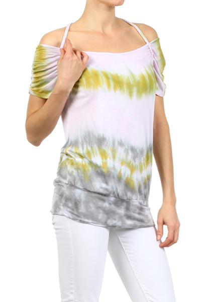 Women's Tie Dye Off the Shoulder Top #11137 - IDI Clothing - Where you can buy directly for the designer manufacturer-Made In USA :)