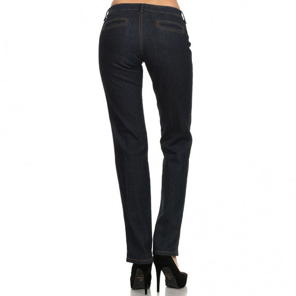 Women's one button Stretch Jean #11139 - IDI Clothing - Where you can buy directly for the designer manufacturer-Made In USA :)