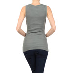 Women's Studded Rib Tank Top #11140 SCR Ash Gray Made In USA - IDI Clothing - Where you can buy directly for the designer manufacturer-Made In USA :)