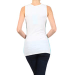 Studded Rib Tank Top 100% Cotton #11140 SCR White Made In USA - IDI Clothing - Where you can buy directly for the designer manufacturer-Made In USA :)