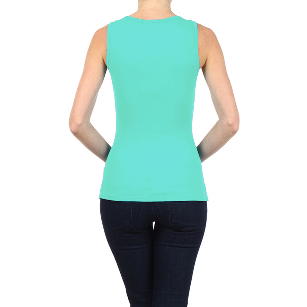 Women's Studded Peace Sign Tank Top Canton Green #11140 SP Canton Green - IDI Clothing - Where you can buy directly for the designer manufacturer-Made In USA :)