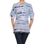 Women's Tie Dye Bell Sleeve Top #11227 Made In USA - IDI Clothing - Where you can buy directly for the designer manufacturer-Made In USA :)