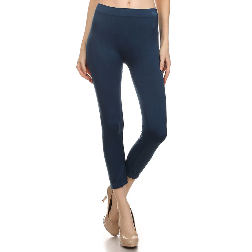 Women's Comfortable IDI Seamless Legging Soft #11408 Navy Blue - IDI Clothing - Where you can buy directly for the designer manufacturer-Made In USA :)