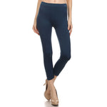 Women's Comfortable IDI Seamless Legging Soft #11408 Navy Blue