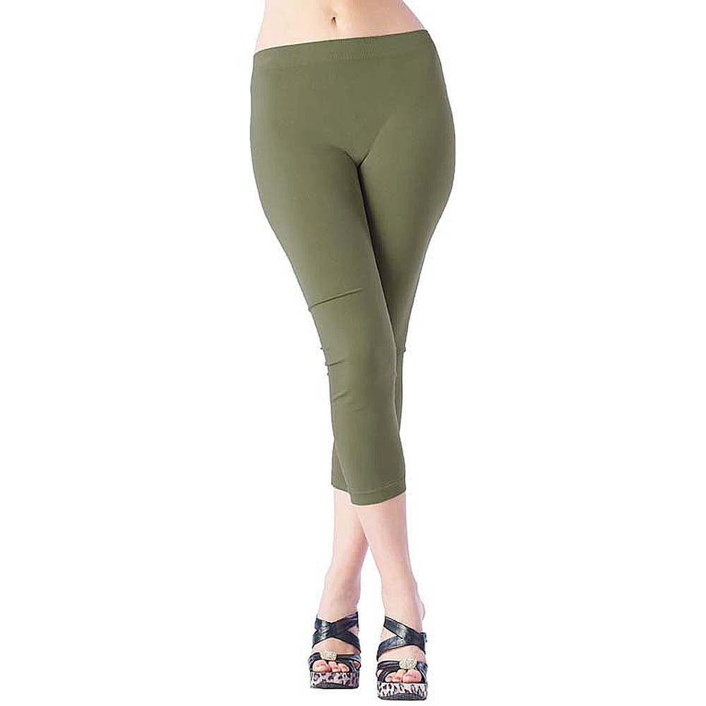 Comfortable IDI Seamless Legging Soft Navy Olive Green