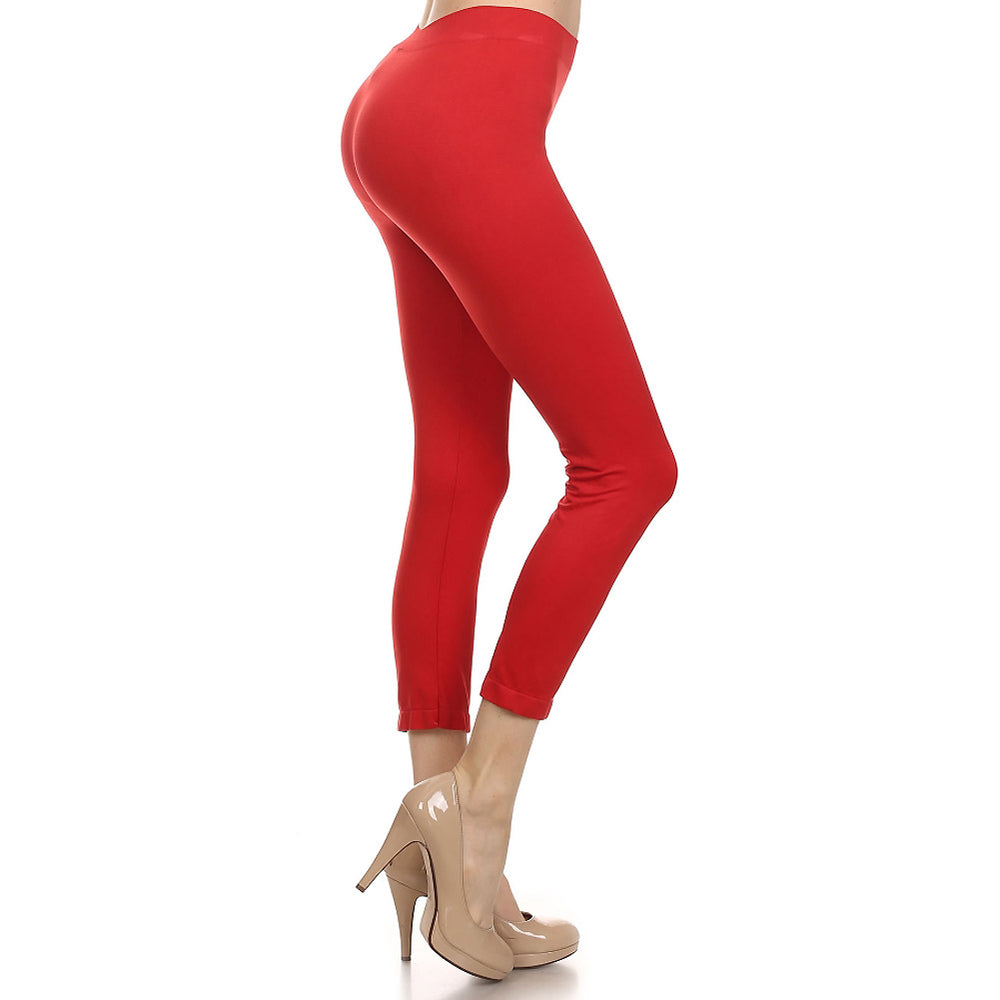 Women's Comfortable IDI Seamless Legging Soft #11408 Red - IDI Clothing - Where you can buy directly for the designer manufacturer-Made In USA :)